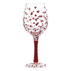 Copa De Vino Charm Anillos simplemente Cristal Conjunto de 6 hecha con cristales de Swarovski