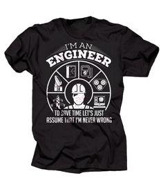 Regalo de camiseta Ingeniero Ingeniero ocupación divertida