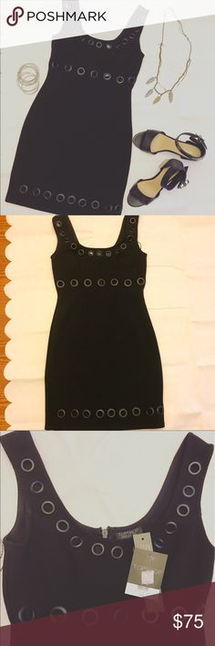 TopShop Cutout Tank Black Dress New with tags. Size US 2- UK6 - EURO34. Beautiful circles cutout dress, can dress up or down for a night out with friends with ankle boots or to a wedding with heels and accessories. Topshop Dresses Mini