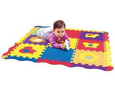 This textured playmat stimulates vision and color recognition with its rich hues; enhances fine motor skills with its push-button music player and puzzles; and promotes exploration and awareness with a peekaboo mirror.