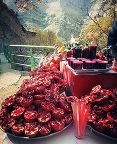 Pomegranate juice in Iran