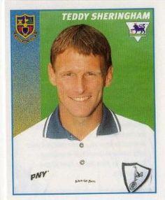 TOTTENHAM HOTSPUR - Teddy Sheringham #478 MERLIN Premier League 97 Football Sticker