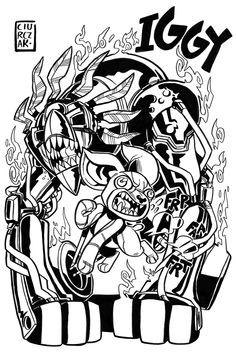 Iggy & The Fool - by SoulKarl (Dan Ciurczak) - JoJo's Bizarre Adventure: Part III - Stardust Crusaders