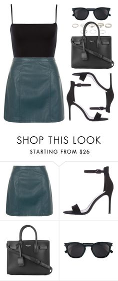 """""""Sin título #12868"""" by vany-alvarado ❤ liked on Polyvore featuring New Look, Topshop and Yves Saint Laurent"""