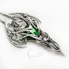 LEENTIVIX silver and green quartz by LUNARIEEN.deviantart.com on @DeviantArt