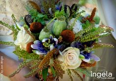 love the texture and colors Brown Floral, Brides And Bridesmaids, Special Events, Bouquets, Wedding Flowers, Whimsical, Floral Design, Floral Wreath, Texture