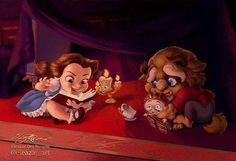 Beauty & The Beast - Disney Princess Animation Art Disney Pixar, Disney Marvel, Arte Disney, Disney Films, Disney Fan Art, Disney And Dreamworks, Disney Magic, Funny Disney, Baby Disney Characters