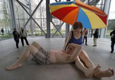 Ron Mueck 2014 Exhibitions | Australian artist Ron Mueck during the opening day for his exhibition ...