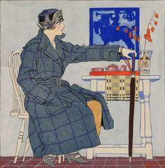 Edward Penfield Woman Cafe Scene