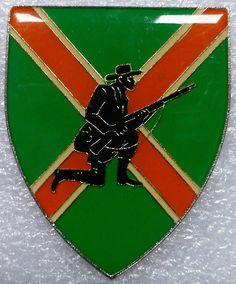 SOUTH AFRICA ARMY DANIE THERON COMMANDO COMBAT CENTRE BOER SOLDIER ARM BADGE in Collectables, Militaria, 1983-1989 | eBay