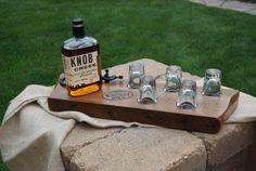 Whiskey shot glass holder from Whiskey Joe's