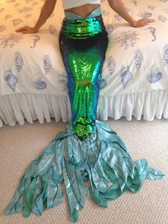 Ariel Face Character Inspired Mermaid Tail - High Quality and Custom Tailored