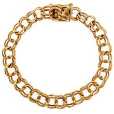 Vintage 14k Gold Charm Bracelet | Gold Charm Bracelet | Vintage Charm Bracelet
