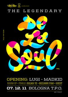 De La Soul Poster by Dee Mo, via Behance