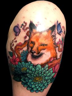 Fox Tattoo by bekrah.deviantart.com on @DeviantArt