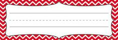 Red Chevron Isabella Nameplates | Mardel