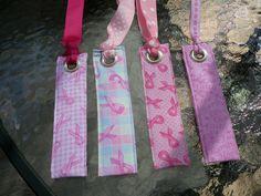 Breast Cancer Fabric Bookmark /Luggage tag by BridgetsStitches, $6.00
