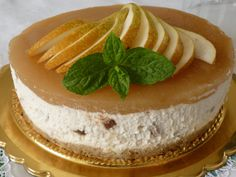 Le ricette di Claudia  &   Andre : CHEESECAKE RICOTTA E PERE with our Tray Golden Age #Poloplast