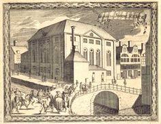 Lijn 9, halte 7 - JHM - Hoogduijtse Joodse Kerck (Justus Danckerts, ca. 1675).