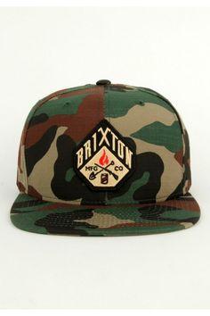 5e77517de797e Brixton Clothing Walsh Snapback Hat - Camo Not the color