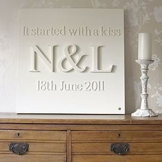 Made with canvas and glued on wooden letters then painted. Fun Idea!