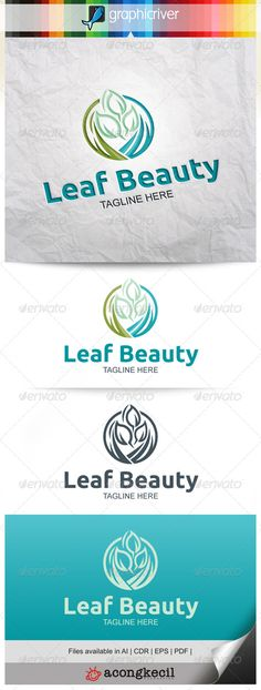 Leaf Beauty V.3 — Vector EPS #spa #natural • Available here → https://graphicriver.net/item/leaf-beauty-v3/7964089?ref=pxcr