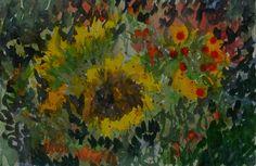 An abstraction of a flower arrangement.
