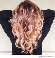 Amazing strawberry blonde ombre hair color #PopularLadiesHairstyles