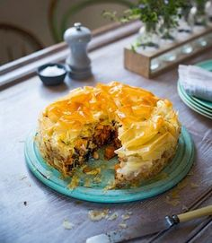 Squash,-spinach-and-chickpea-filo-pie
