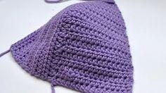 how to crochet bikini top - YouTube