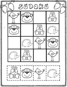 Sudoku Puzzles, Puzzles For Kids, Preschool Worksheets, Preschool Activities, Educational Games For Kids, English Activities, School Fun, Kids And Parenting, Diy For Kids