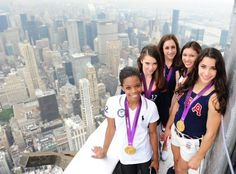 The US gymnasts back in the States
