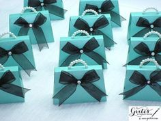 Mini Tiffany Blue Paper Purse - Any Color Paper Purse - Breakfast at Tiffany's Party Favors - Tiffany Blue & Pearl Paper Purse - Set of 10 Tiffany Birthday Party, Tiffany Party, Tiffany Wedding, Birthday Party Favors, Birthday Parties, Birthday Games, 16th Birthday, Birthday Bash, Bleu Tiffany