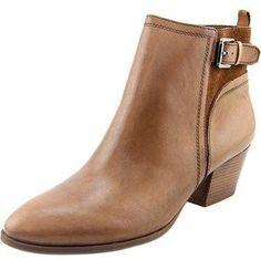Franco Sarto Garda Women Round Toe Leather Brown Ankle Boot.
