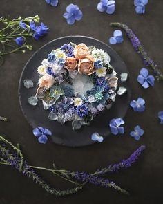 Tartas florales de crema de mantequilla. Autor: Soo