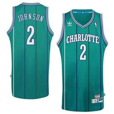 Charlotte Hornets Larry Johnson Sewn Throwback Jersey 7124540f9
