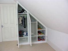 wardrobe in loft eaves
