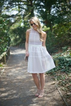 Styled Snapshots // #DonnaMorgan Tenley Embroidered Fit & Flare Dress