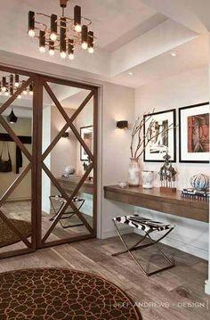 Classic Barn Closet Mirrored Door #closet #mirror #door #decorhomeideas