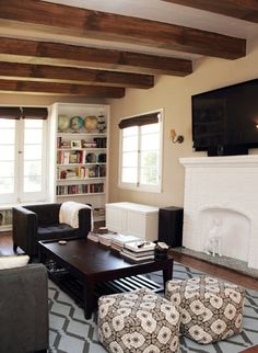 Someday please let me have exposed natural wood beams...and maybe a sunken living room.