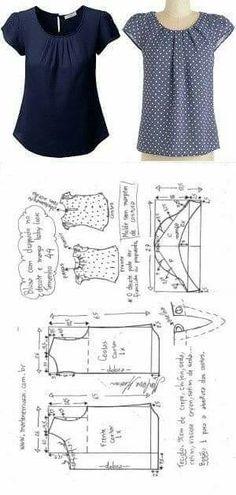 #Блузка #простые #выкройки