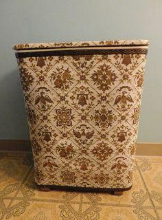Vintage Redmon Mid Century Bicentennial Design Hamper/Laundry/Storage 1970's by RadiogirlCarolyn on Etsy