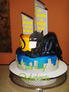Torta infantil Batman en relieve