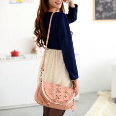 Perforated Detail Crossbody Bag from #YesStyle <3 59 Seconds YesStyle.com.au