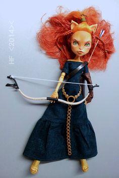 RESERVED OoaK Meridainspired werecat doll by Hellfishop on Etsy