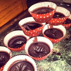 DCPBJ Paleo Freezer Fudge Cups: that's Dark Chocolate Peanut Butter  Jelly Paleo Freezer Fudge Cups :)