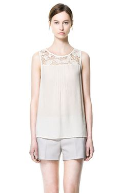 GUIPURE LACE BLOUSE - Shirts - Woman - New collection | ZARA United States