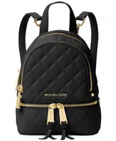 586847277 Top-of-the-class style abounds with Michael Michael Kors' chic quilted  leather messenger backpack.