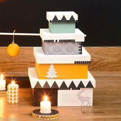 2. Decoración de las cajas de Navidad