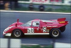 1970 Mike Parkes in Ferrari 512 S at Nürburgring.